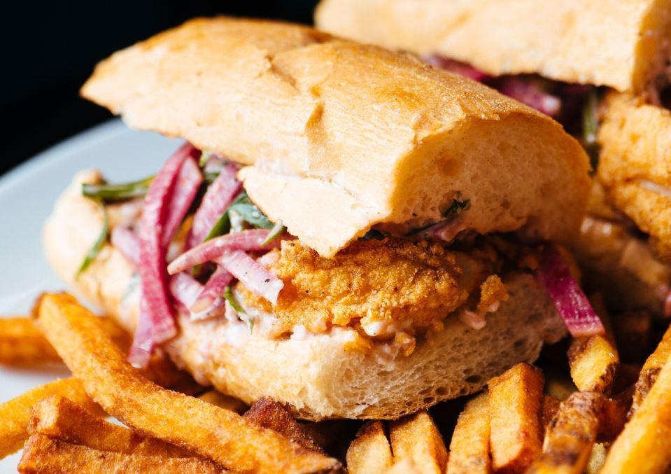 "<p>The po'boy is <a href=""https://www.thedailymeal.com/eat/best-sandwich-every-state-slideshow?referrer=yahoo&category=beauty_food&include_utm=1&utm_medium=referral&utm_source=yahoo&utm_campaign=feed"">so much more than a sandwich</a>. This particular po'boy recipe, from chef Isaac Toups of Toups Meatery and Toups South in New Orleans, tops cornmeal-fried oysters and shrimp with a salad of thin-sliced tomato and onion, sherry vinegar and horseradish.</p> <p><a href=""https://www.thedailymeal.com/recipes/fried-shrimp-oyster-poboy-recipe?referrer=yahoo&category=beauty_food&include_utm=1&utm_medium=referral&utm_source=yahoo&utm_campaign=feed"">For the fried shrimp and oyster po'boy recipe, click here.</a></p>"