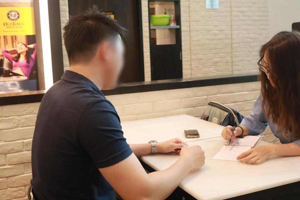 Richard, the 27-year-old serial entrepreneur who runs SG VIP Escorts, speaking to our reporter. (PHOTO: Yahoo Lifestyle Singapore)
