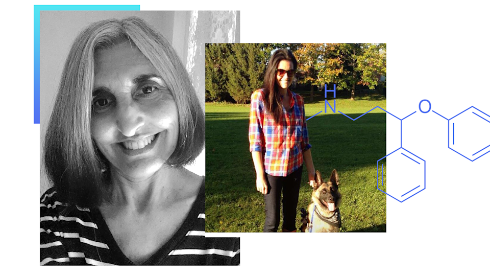Lauren Omartian, left, and Nicole Dalcourt, right, took antidepressants for many years. (Collage by Quinn Lemmers for Yahoo Lifestyle)