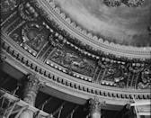 <p>The magnificent ceiling in the Roxy Theater lobby undergoes construction and renovations. </p>