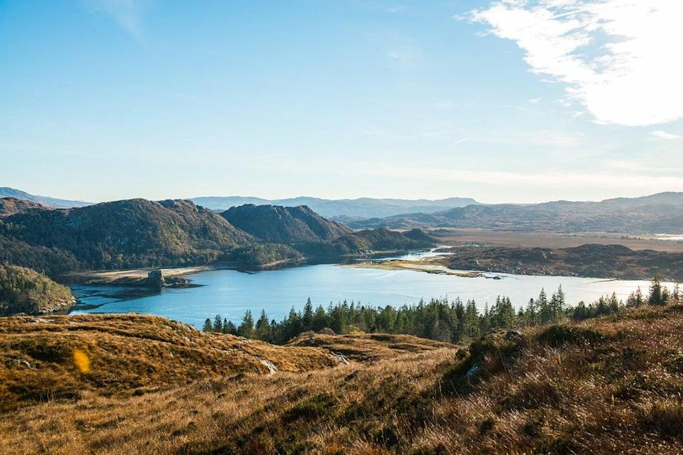 A view from the summit of Eilean Shona (James Bedford)