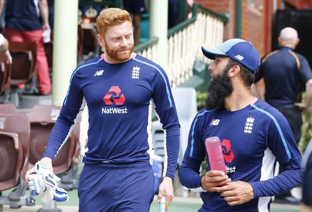 Could Jonny Bairstow, left, and Moeen Ali return in South Africa? (Jason O'Brien/PA)