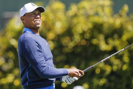 Mar 15, 2018; Orlando, FL, USA; Tiger Woods tees off on the ninth hole during the first round of the Arnold Palmer Invitational golf tournament at Bay Hill Club & Lodge . Mandatory Credit: Reinhold Matay-USA TODAY Sports