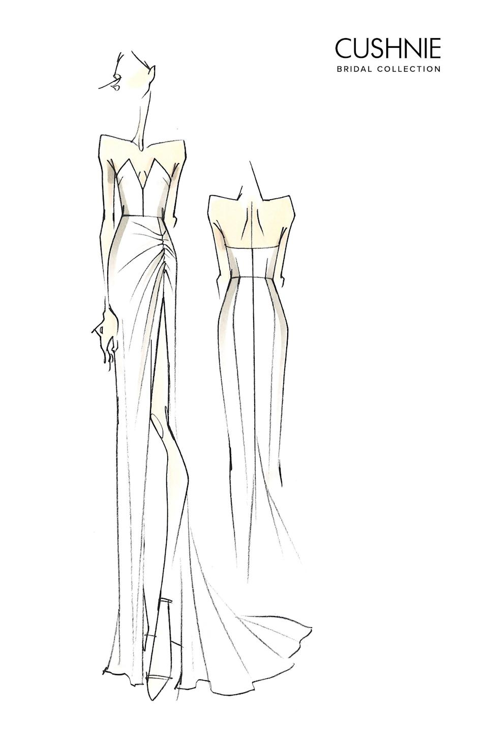 Designer Carly Cushnie is taking the reins of what was formerly Cushnie et Ochs, which also means a new collection of chic, sculptural wedding gowns.