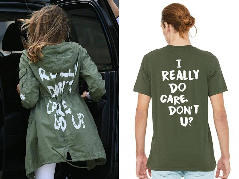 Clothing company PSA's own take on the first lady's jacket (AP/PSA)