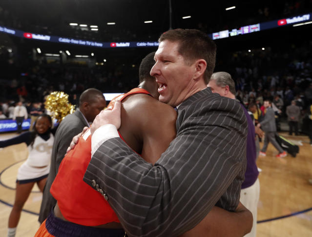 Brad Brownell led Clemson to a program-record-tying 25 wins last season. (AP Photo/John Bazemore)