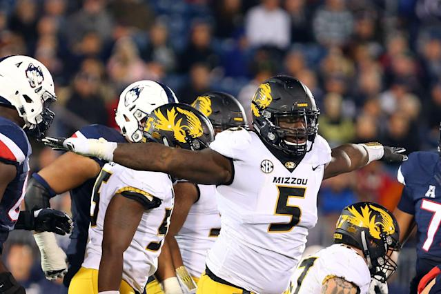 Missouri defensive lineman Terry Beckner Jr. expects to hear his named called at the NFL draft on either Day 2 or 3. (Getty Images)