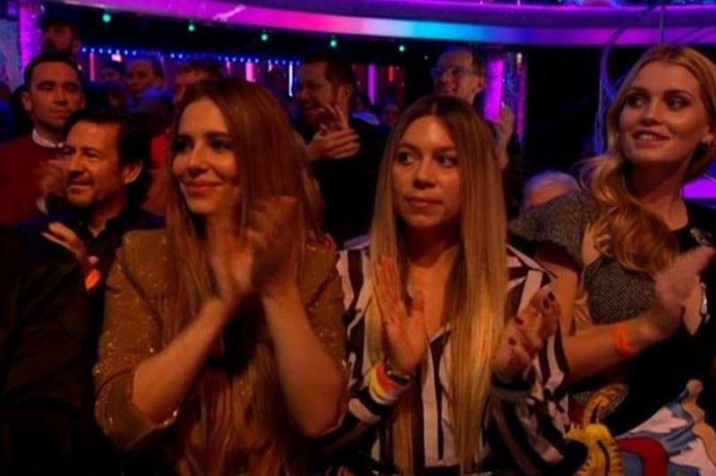 Cheryl was spotted in the Strictly audience (Credit: BBC)