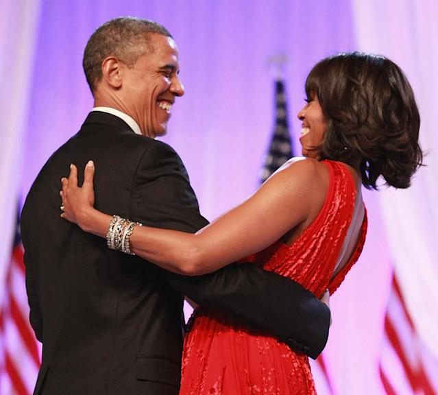 Former President Barack Obama with Michelle Obama in 2013. (Photo: Taylor Hill/WireImage)