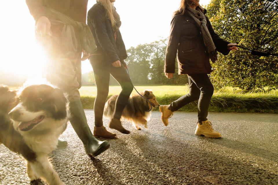 Walking with your family can do wonders. (Photo: Getty Images)