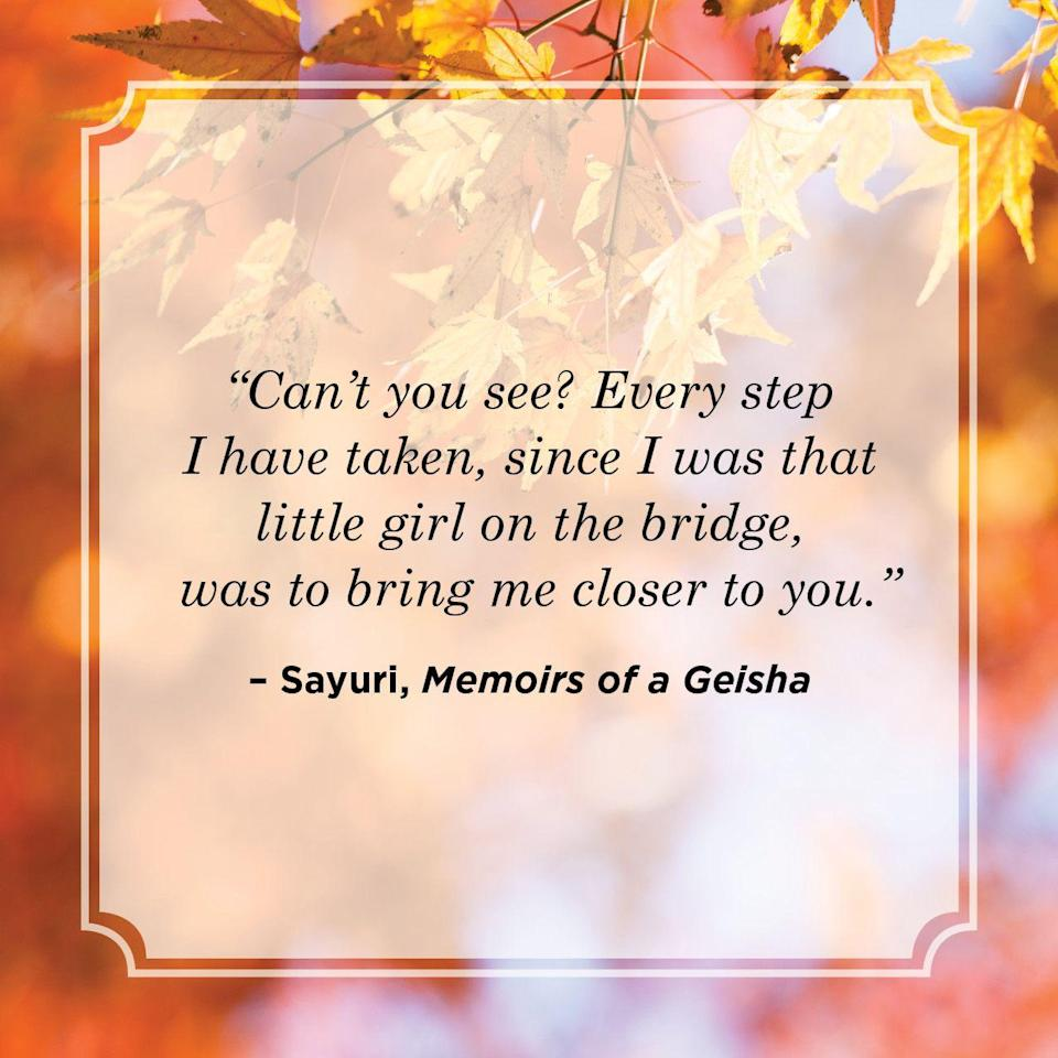 """<p>""""Can't you see? Every step I have taken, since I was that little girl on the bridge, was to bring me closer to you.""""</p>"""