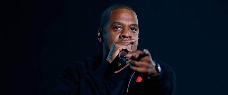 Rapper Jay-Z performs onstage