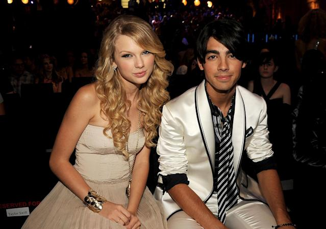 Taylor Swift and Joe Jonas at the 2008 MTV Video Music Awards in Los Angeles. (Photo: Jeff Kravitz/FilmMagic)
