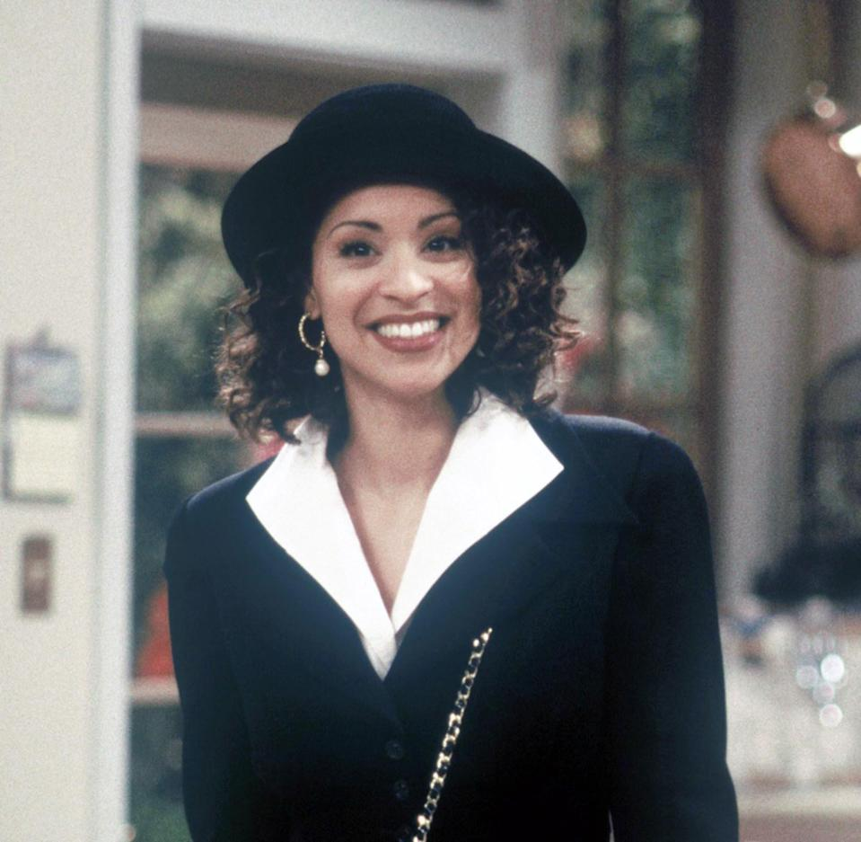 "<strong><h2>Hilary Banks</h2></strong>Following in the footsteps of <em>A Different World's</em> Whitley Gilbert, Hilary Banks was a pioneer of bad and bougie as the eldest child on <em>The Fresh Prince of Bel-Air</em>. She wasn't the sharpest tool in the shed, but she was definitely the best dressed.<br><br>To pull off her staple look you'll need <u><a href=""https://belleroseboutique.com/products/eozy-women-wool-felt-roll-brim-bowler-derby-hats-billycock-cloche-22-5-black"" rel=""nofollow noopener"" target=""_blank"" data-ylk=""slk:a black bowler hat"" class=""link rapid-noclick-resp"">a black bowler hat</a></u>, no exceptions. I would also recommend a <u><a href=""https://www.lightinthebox.com/brown-color-short-curly-european-synthetic-wigs-for-afro-women_p5326157.html?currency=USD&litb_from=paid_adwords_shopping&sku=1_34421&country_code=us&utm_source=google_shopping&utm_medium=cpc&adword_mt=&adword_ct=188369423007&adword_kw=&adword_pos=1o24&adword_pl=&adword_net=g&adword_tar=&adw_src_id=9301939147_788873016_42735030642_pla-268456808130&gclid=EAIaIQobChMItZmQ097U1gIVxLfACh3KqgtREAQYGCABEgKH__D_BwE"" rel=""nofollow noopener"" target=""_blank"" data-ylk=""slk:curly wig to wear underneath"" class=""link rapid-noclick-resp"">curly wig to wear underneath</a></u>. You can probably find a women's blazer with the shoulder pads on fleek at your local thrift store. Just make sure you rock a cute mini skirt and tights because you have to have the bad with the bougie.<span class=""copyright"">Photo: NBC/Stuffed Dog/Quincy Jones Ent/Kobal/REX/Shutterstock.</span>"