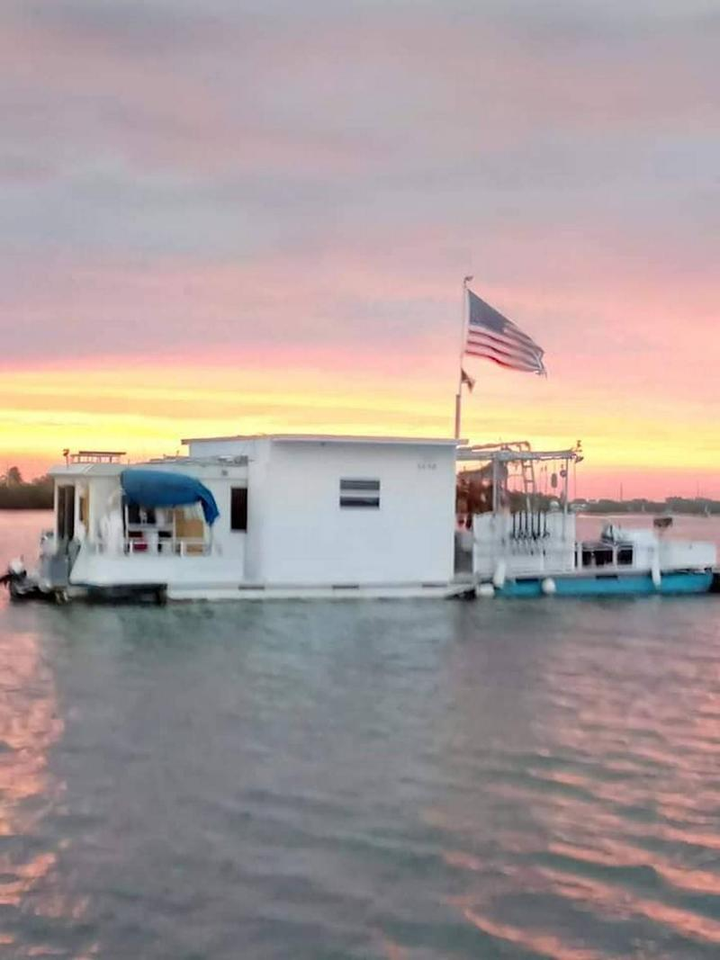 Adam Bounds' houseboat was in the Cow Key Channel at the time he was shot during a welfare check on Oct. 15, 2019.
