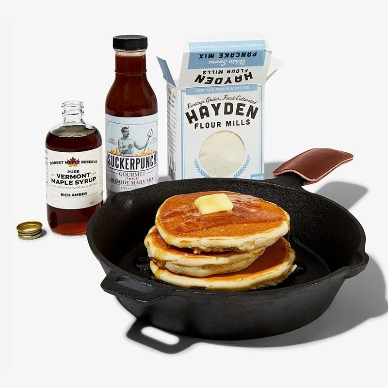 "Bespoke Post curates subscription boxes for every occasion, like this Sunday morning brunch edition, which includes the full spread: Bloody Mary mix, pancake mix, fancy maple syrup, and cast-iron pan. $55, Bespoke Post. <a href=""https://www.bespokepost.com/box/over-easy"" rel=""nofollow noopener"" target=""_blank"" data-ylk=""slk:Get it now!"" class=""link rapid-noclick-resp"">Get it now!</a>"