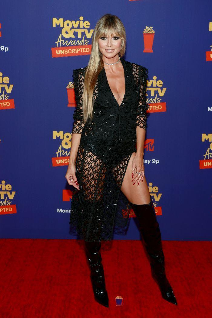 Heidi Klum arrives at the MTV Movie & TV Awards: Unscripted in Los Angeles, May 17. - Credit: Courtesy of MTV