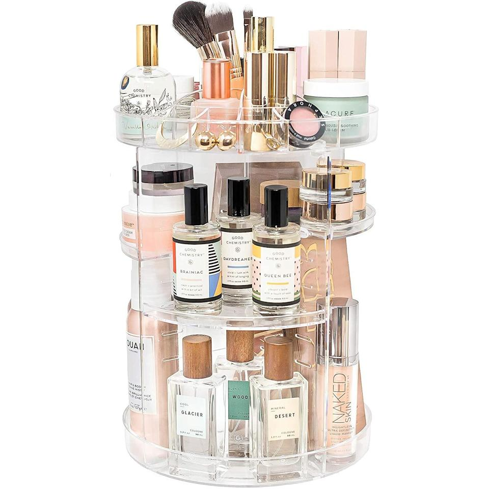 Rotating Makeup Organizer by Tranquil Abode | 360 Spinning