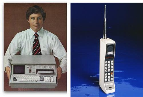 IBM 5100 and DynaTAC cellphone