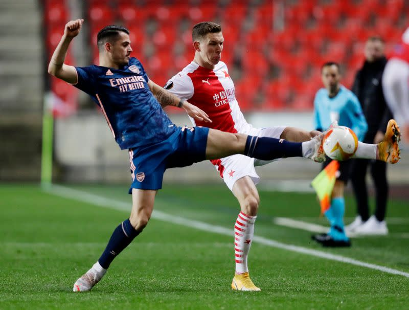 Europa League - Quarter Final Second Leg - Slavia Prague v Arsenal