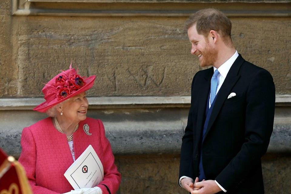 The Queen and Prince Harry had 'spent precious moments' when he was back in the UK  (Getty Images)