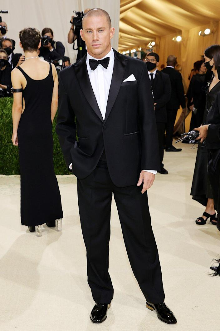Channing Tatum attends The 2021 Met Gala Celebrating In America: A Lexicon Of Fashion at Metropolitan Museum of Art on September 13, 2021 in New York City.