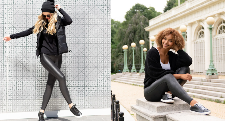Shoppers can't get enough of these best-selling faux leather leggings. Images via Nordstrom.