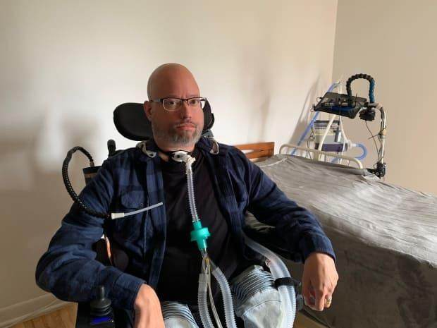 Jonathan Marchand arrived in his new apartment on August 26, after spending nine years in a long-term care facility against his will. (Radio-Canada / Alexandre Duval - image credit)