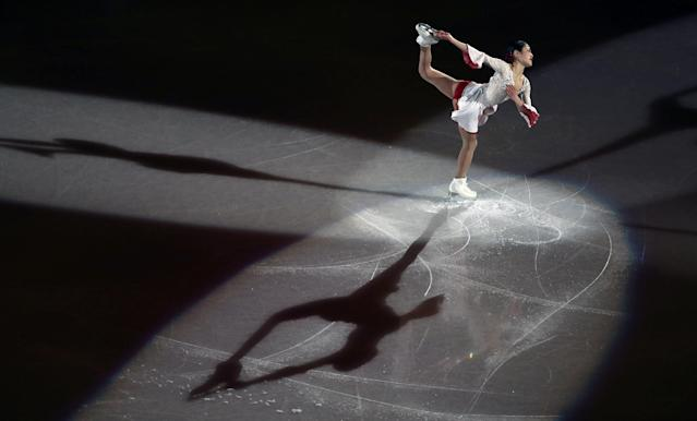 """Figure Skating - Pyeongchang 2018 Winter Olympics - Gala Exhibition - Gangneung Ice Arena - Gangneung, South Korea - February 25, 2018 - Satoko Miyahara of Japan performs. REUTERS/Lucy Nicholson SEARCH """"OLYMPICS BEST"""" FOR ALL PICTURES. TPX IMAGES OF THE DAY."""