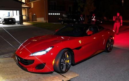 One of five Ferraris seized by police in an illegal gaming investigation named Project Sindacato is pictured in Vaughan