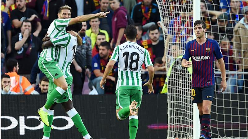 c44b775d7 Barcelona 3 Real Betis 4: LaLiga leaders stunned by Setien's side