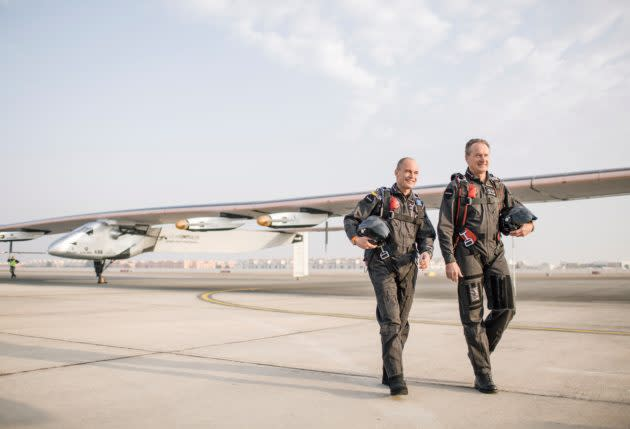 "<img width=""1260"" height=""859"" alt=""Solar Impulse 2 and pilots""><br>From the outside, it looked as if the Swiss-led Solar Impulse project smoothly soldiered through adversity as its solar-powered plane made a record-setting trip around the world in 2015 and 2016. But the perspective was different when seen from the inside: The multimillion-dollar campaign nearly came crashing down when teammates debated whether to go ahead with a crucial Pacific crossing, even though the monitoring system for the autopilot wasn't working right. ""The engineers were crying,"" said Bertrand Piccard, the Swiss psychiatrist and adventurer who served as Solar Impulse's co-founder, chairman and one of its pilots. ""They were begging me to… <a rel=""nofollow"" href=""https://www.geekwire.com/2018/impossible-flight-reveals-turmoil-technology-solar-planes-global-trek/"">Read More</a>"