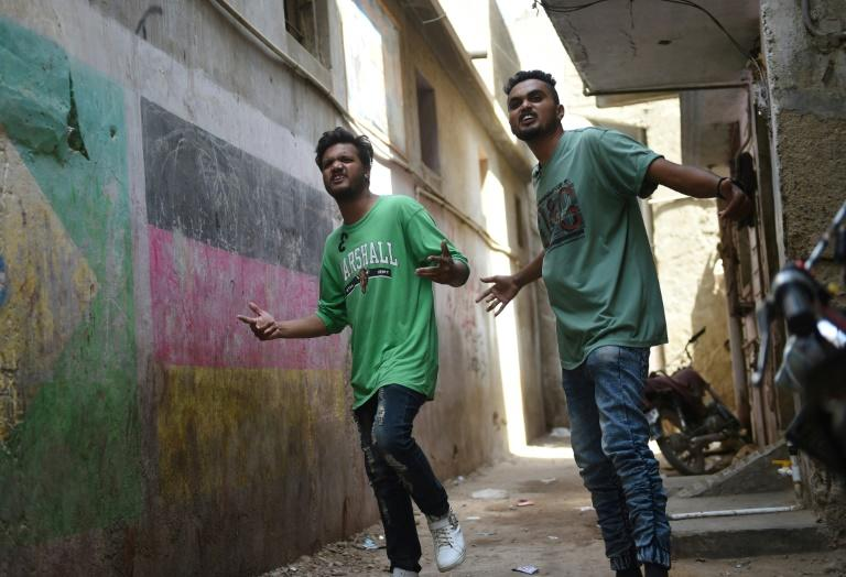 Haunted by gang violence and poverty for decades, Lyari was once considered one of Pakistan's most dangerous areas, but those grim realities also inspired a generation of artists and spawned a burgeoning hip hop scene (AFP Photo/RIZWAN TABASSUM)