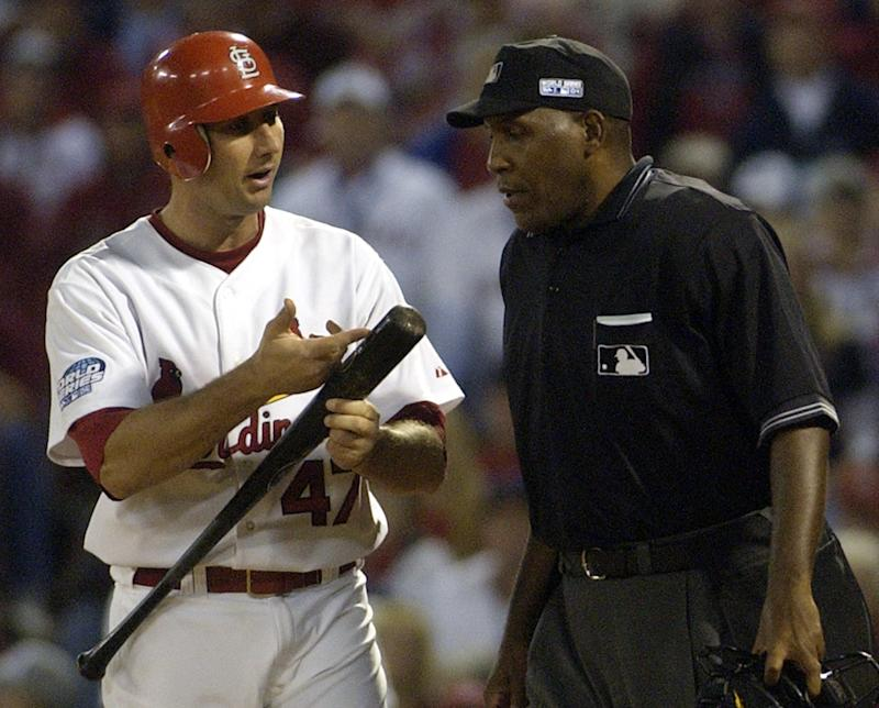 Chuck Meriwether, an umpire with 18 years' experience and current Major League Baseball supervisor, has died at 63. (AP Photo/Charles Rex Arbogast)