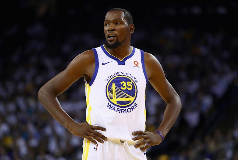 Kevin Durant of the Golden State Warriors will miss the NBA champions game due to sore ribs