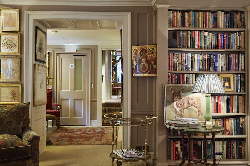 Another view of Robin Birley's library.