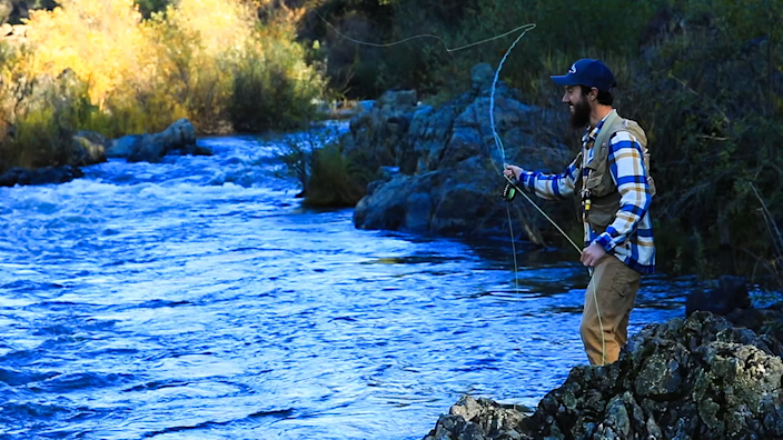 <p>Fly-fishing on the Bear River. (Photo: Voice of the Bear River) </p>