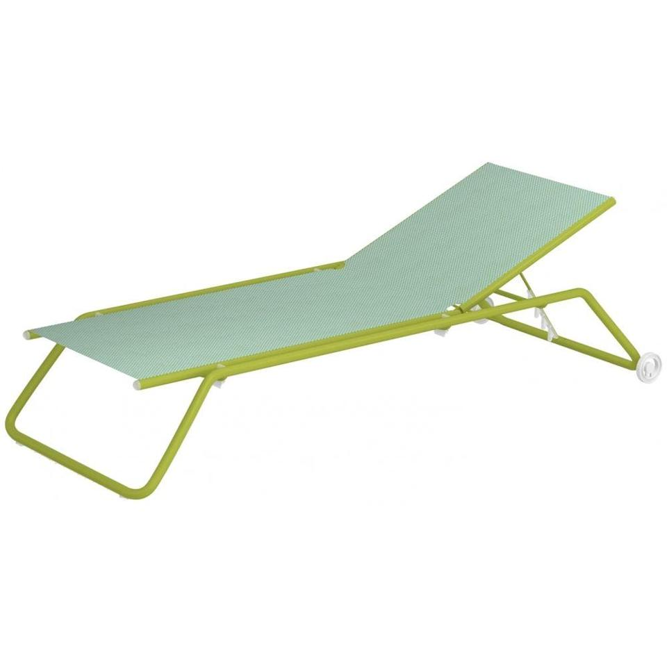 """<p>As its name suggests, this sun lounger is ideal for lazy naps in the sunshine, with its generous dimensions meaning you can really stretch out. Created by designers Alfredo Chiaramonte and Marco Marin, it's available in ten two-tone colour options that range from the daring likes of 'Peach and Scarlet Red' to the fresh 'Mint and Green' (pictured). £561, <a href=""""https://www.nunido.co.uk/emu-snooze-sunbed.html"""" rel=""""nofollow noopener"""" target=""""_blank"""" data-ylk=""""slk:nunido.co.uk"""" class=""""link rapid-noclick-resp"""">nunido.co.uk</a></p>"""