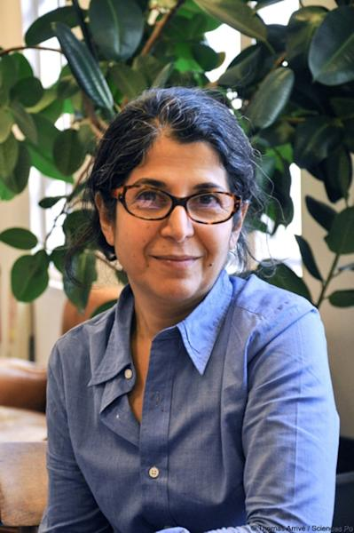 Franco-Iranian researcher Fariba Adelkhah, who has been detained since early June in Iran (AFP Photo/Thomas ARRIVE)