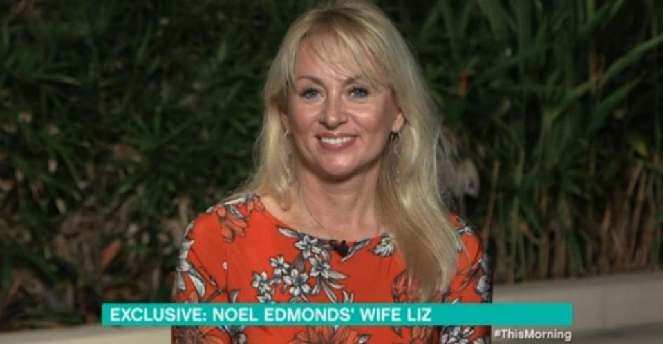 Liz Edmonds confirmed that she painted Noel's toenails before he entered the jungle (ITV)