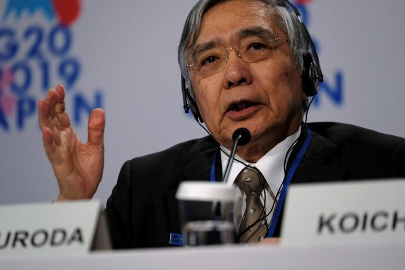 BOJ Kuroda: No talk at G20 of central banks issuing digital currencies