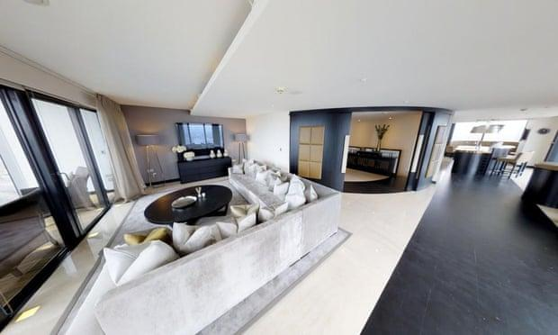 The 44th-46th floor penthouse at Beetham House, Manchester is believed to be owned by Phil Neville. Photograph: Rightmove
