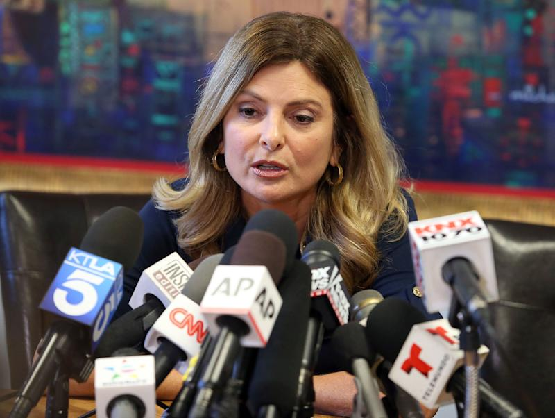 Lisa Bloom is shown during a press conference in California last November.
