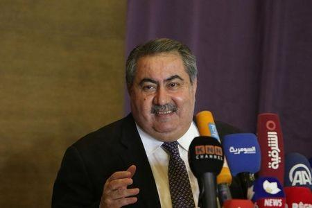 Sacked Finance Minister Hoshiyar Zebari Speaks During A News Conference In Erbil