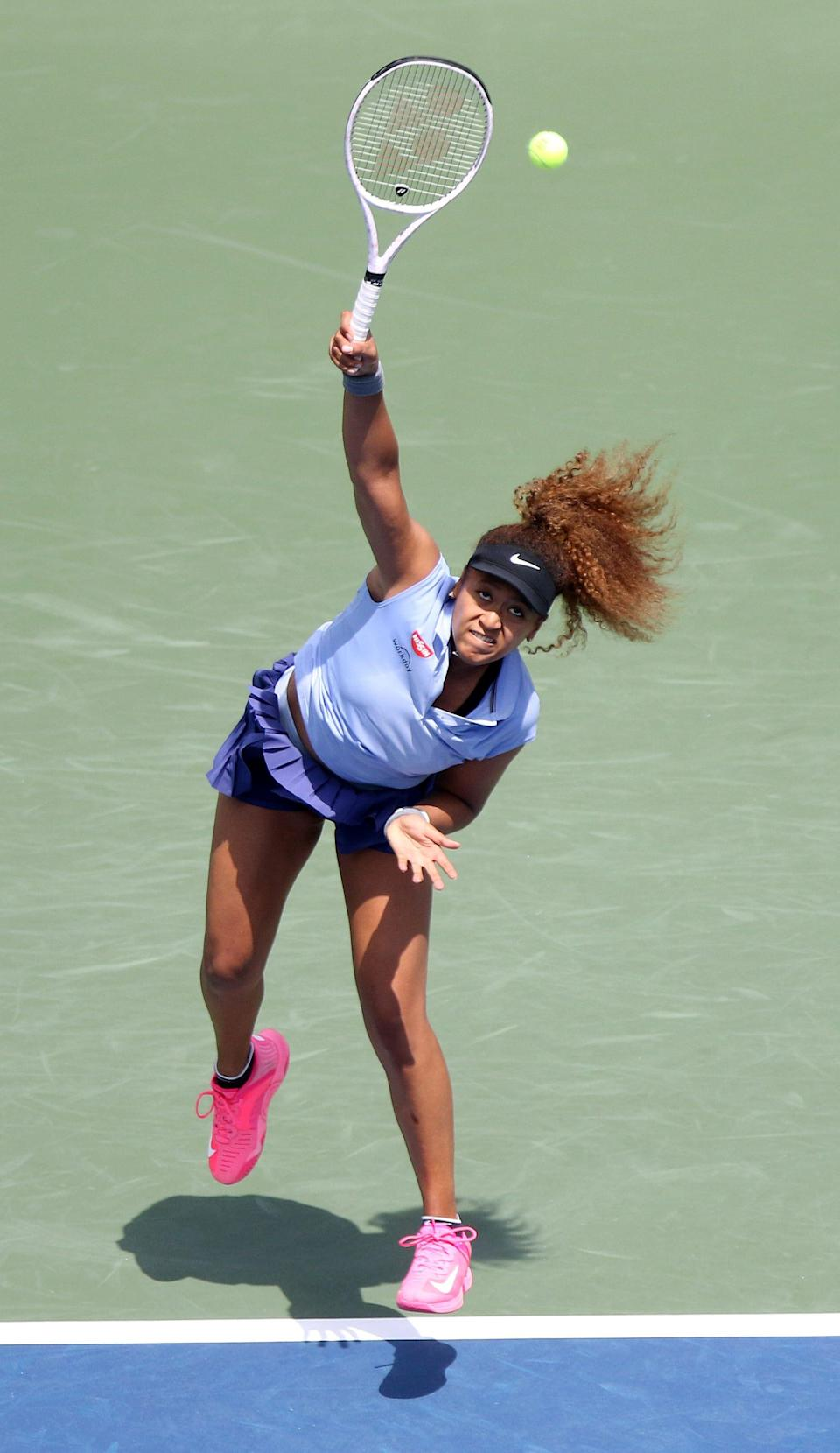 Naomi Osaka defeated Coco Gauff, 6-4, 3-6, 6-4, during the Western & Southern Open at the Lindner Family Tennis Center on Wednesday,