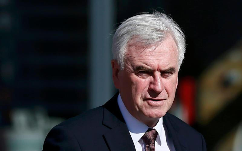 Britain's opposition Labour Party Shadow Chancellor John McDonnell  - Credit: REUTERS/Stefan Wermuth