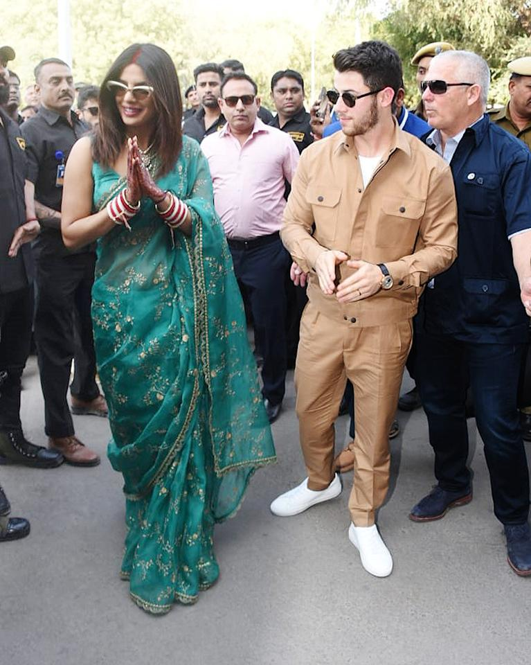 <p>Priyanka and Nick leave Jodhpur after the wedding </p>