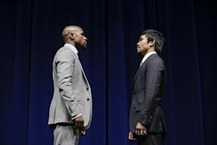 Nobody said watching Mayweather-Pacquiao in person was going to be cheap. (AP Photo/Jae C. Hong)