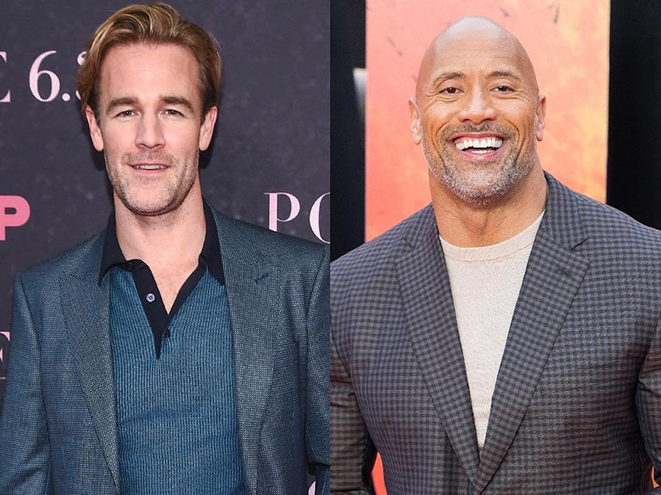 """James Van Der Beek is following in the footsteps of Dwayne """"the Rock"""" Johnson by sharing a photo of him doing skin to skin with his newborn daughter. (Photo: Getty Images)"""