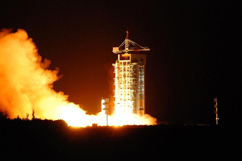 China's quantum satellite, nicknamed Micius after a 5th century BC Chinese scientist, blasts off from the Jiuquan launch centre in north-west Gansu province on August 16, 2016
